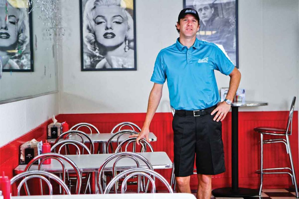 Chris LaCoe of Hwy 55 Burgers Leland