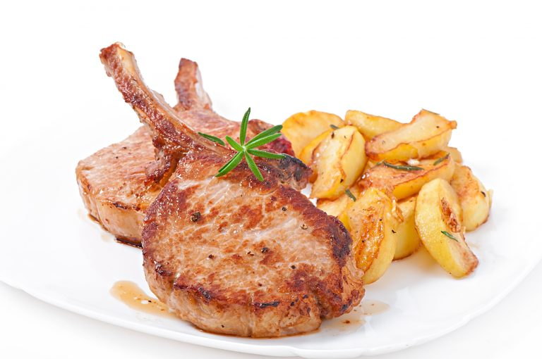 Pork Chops with Baked Apples Recipe