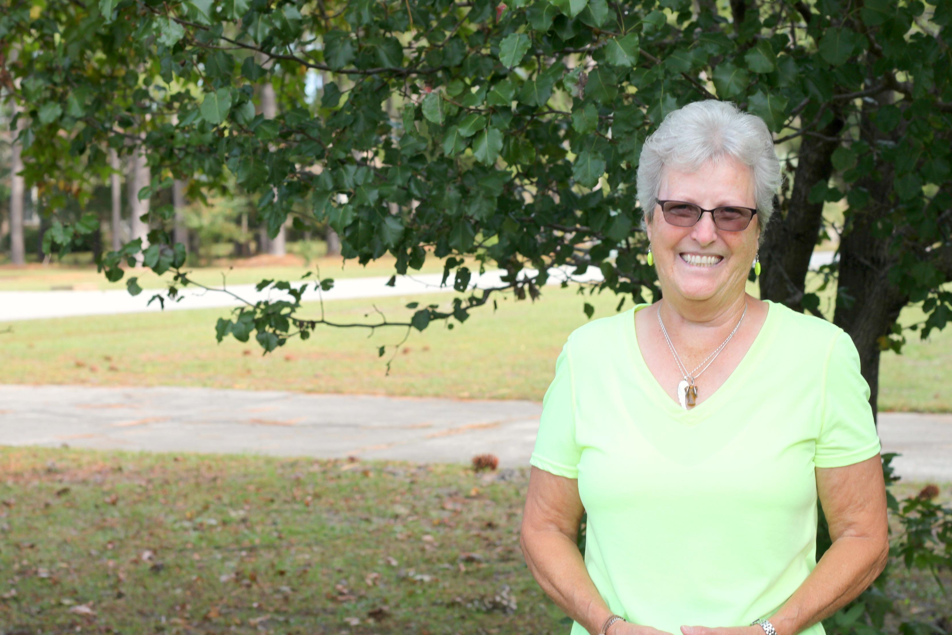 Janice Owens donates to Brunswick Sheriff Animal Protection Services