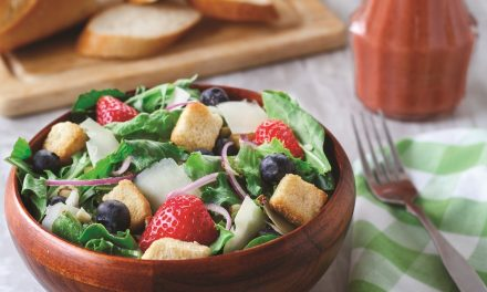 Spring Salad with Strawberry Poppy Seed Dressing