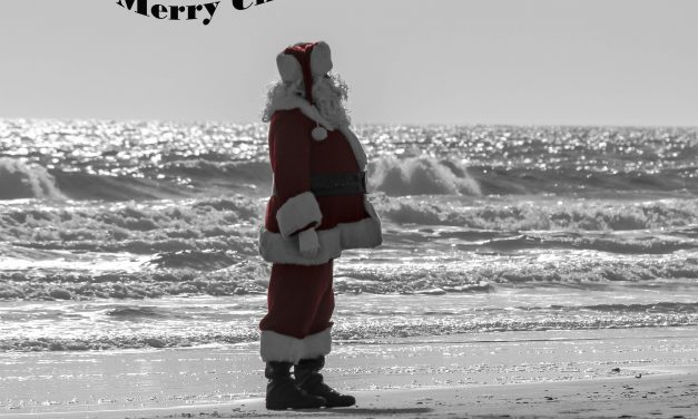 A Sunset Beach Santa