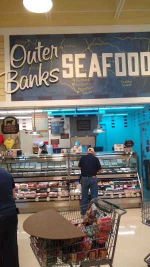 Outer Banks Seafood at Lowes Foods in Southport, NC