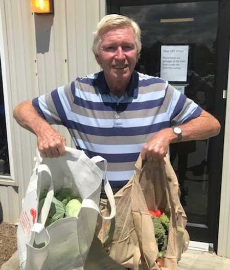 Richard Holt delivering to Shoreline Baptist Church