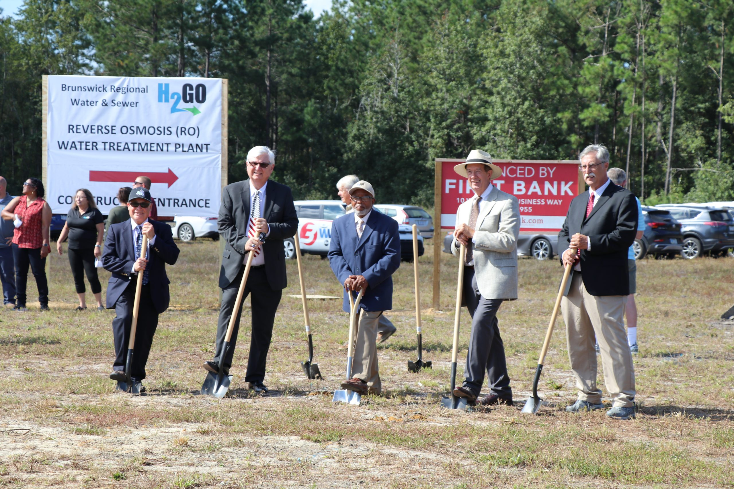 H2GO RO Plant Groundbreaking - October 2020