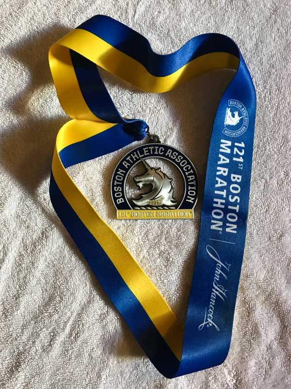 Boston MarathonT racy McMullen