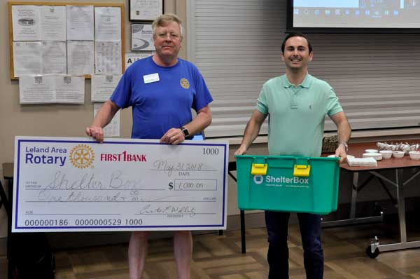 Leland Area Rotary NC Donation