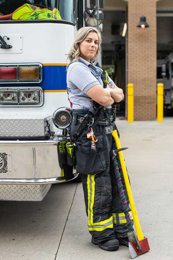 Women Firefighter Leland NC