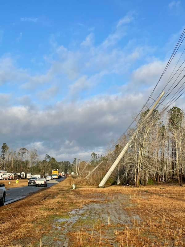 BEMC Pole Down Tornado 2021