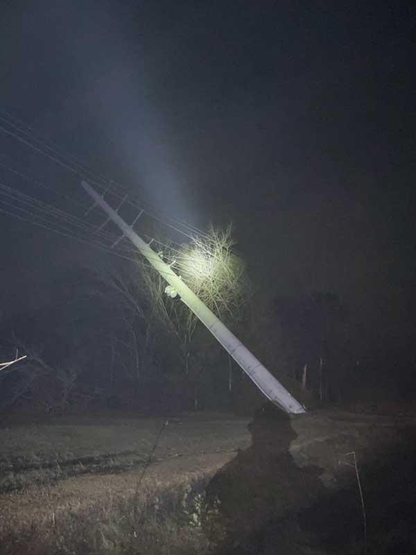 BEMC Power Outage Tornado February 2021