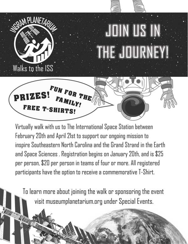Flyer for Walk to the ISS