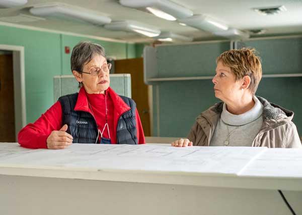 Brunswick Housing Project Sally and Rebecca