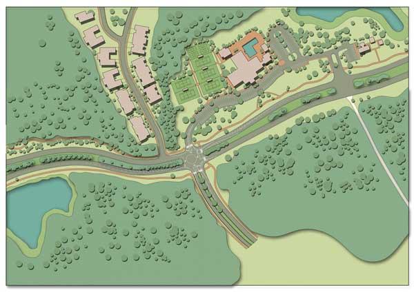 Drawing Brunswick Forest Roundabout