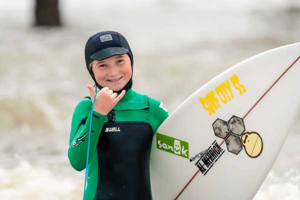 Holden Beach NC Surfer Bella Faircloth