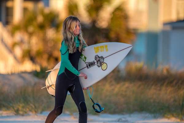 Surfer Bella Faircloth Holden Beach NC