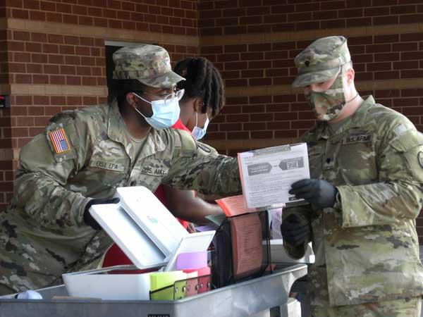 COVID19 National Guard Brunswick NC